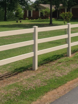 Vinyl Post and Rail Fence