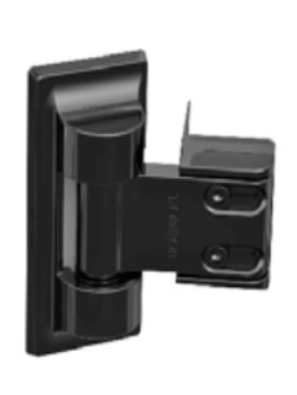 Standard Wrap Gate Hinge Set - Black