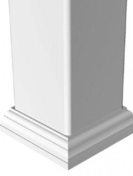 New England Post Base Trim 4 x 4 White