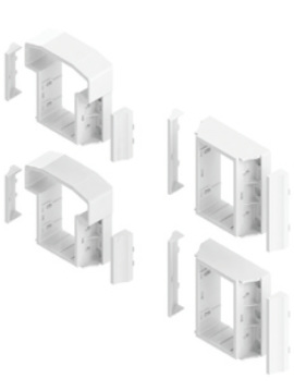 T Style Railing Level Bracket Kit White