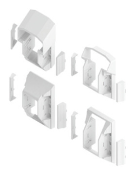 T Style Railing STAIR Bracket Kit White