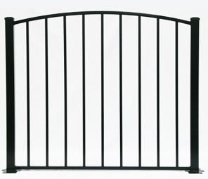 4' H x 4' W Tioga Arched Gate Black