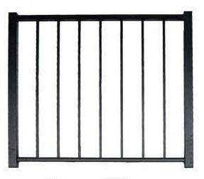4' H x 4' W Tioga Straight Gate  Black