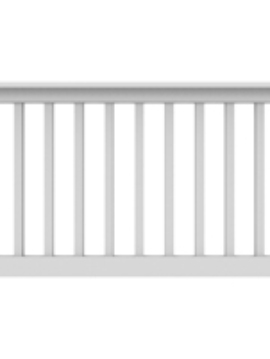 "36"" High x 6' Long White"" T Style Vinyl Railing"