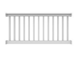 "36"" High x 8' Long White"" T Style Vinyl Railing"