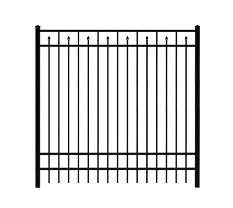 6' H x 6' W Clearfield Aluminum Fence Panel Black