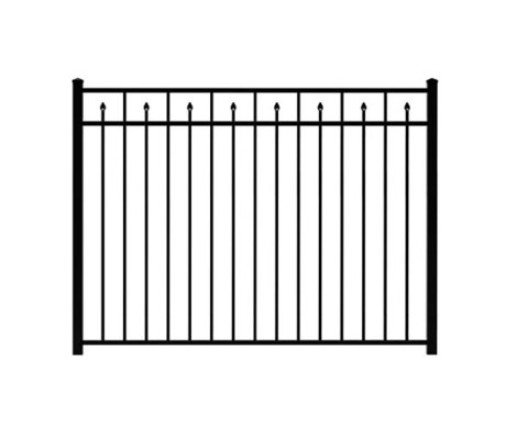 "54"" H x 6' W Clearfield Aluminum Fence Panel Black"