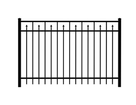 5' H x 6' W Clearfield Aluminum Fence Panel Black