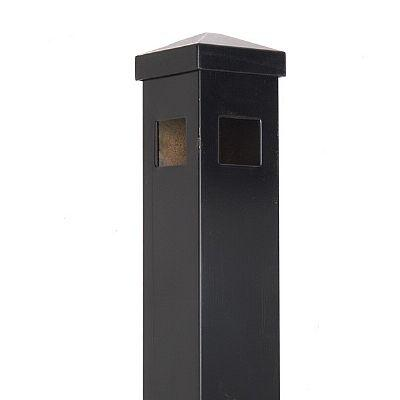 "2""x2""x70"" Huntington Corner Post  Black"