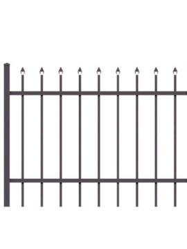 4' H x 5' W Tioga Straight Gate  Black