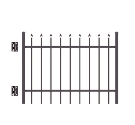 5' H x 5 W Clearfield Straight Gate Black