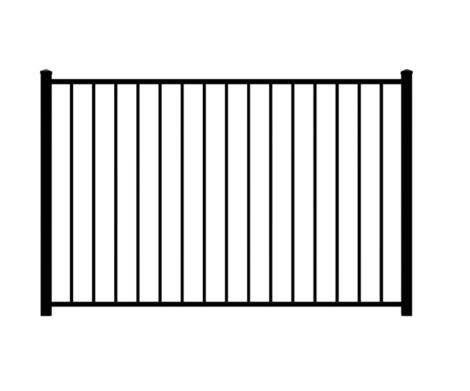 4' H x 6' W Tioga Aluminum Fence Pool Panel Black