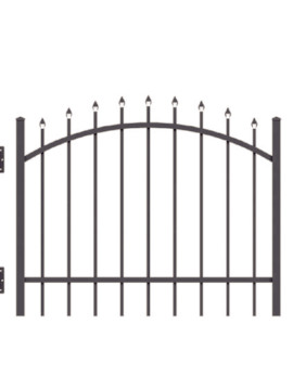 4' H x 5' W Tioga Arched Gate Black