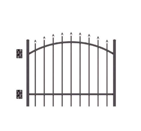 6' H x 5' W Clearfield Arched Gate  Black