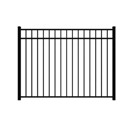 "54"" H x 6' W Bradford Aluminum Fence Pool Panel Black"