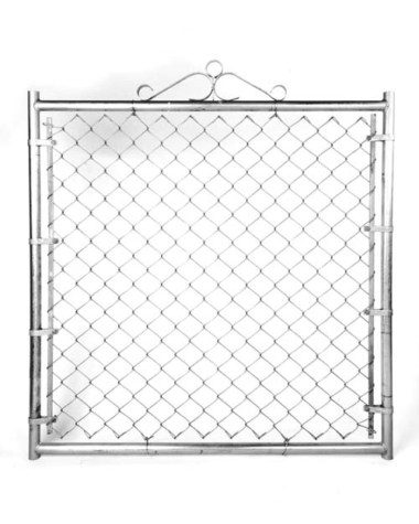 "Residential Single Gate - 48""W X 48""H X 1 3/8"" Galvanized."