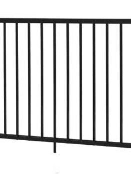"Midway Railing Section - 36"" H x 4' W  Black"
