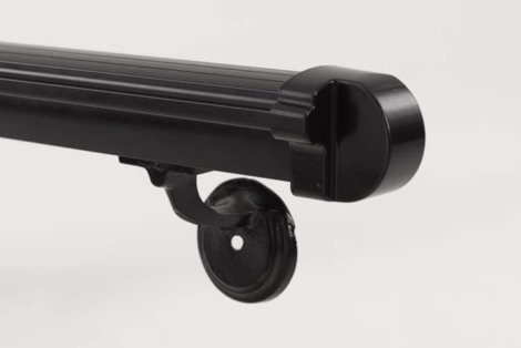 Aluminum Hand Rail - 7' Long Black