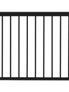 "Fairfield Railing Gate - 36""H x 42""W Black"