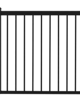 "Fairfield Railing Gate - 42""H x 42""W Black"