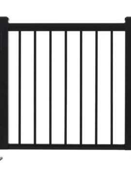 "Fairfield Railing Gate - 36""H x 36""W Black"