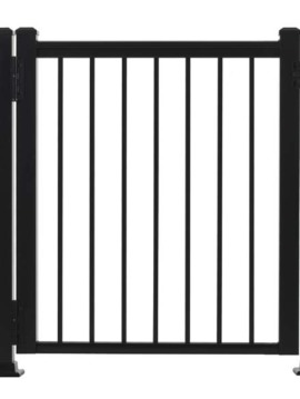"Fairfield Railing Gate - 42""H x 36""W Black"