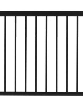 "Fairfield Railing Gate - 36""H x 48""W Black"