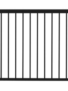 "Fairfield Railing Gate - 42""H x 48""W Black"