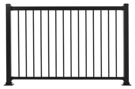 "Summit Railing Sections - 42""H x 5'W Black"