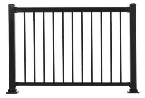 "Summit Railing Sections - 36""H x 4'W Black"