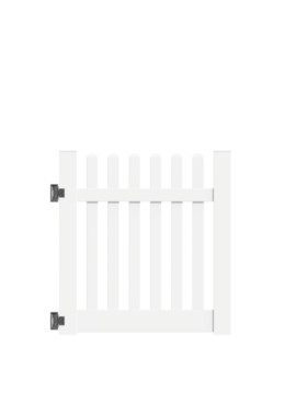 "4'x46"" New Bedford Picket Straight Walk Gate White"