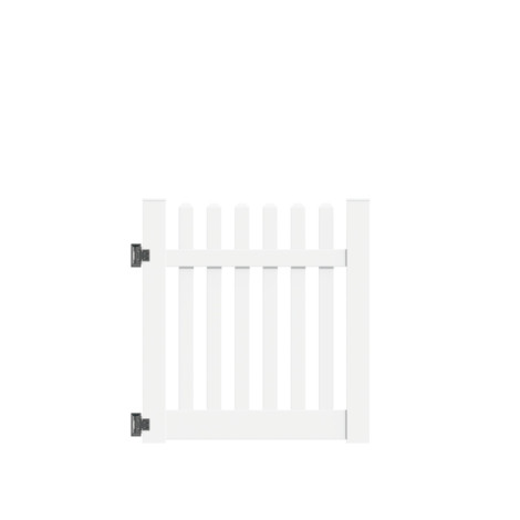 "4'x46"" Baltimore Walk Gate White"
