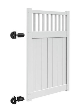 "6'x46"" Chestertown Walk Gate White"