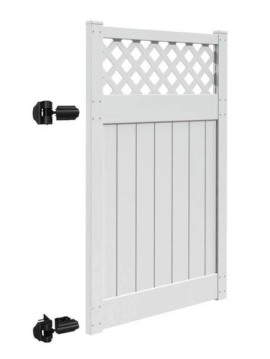 "6'x46"" Harrington Walk Gate White"