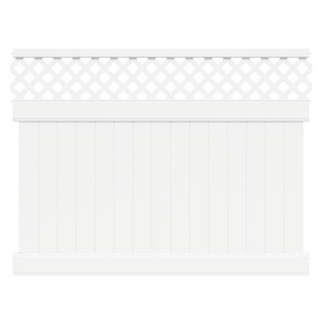6' H x 6' W Harrington (Florida Style) Privacy W/ Lattice Panel White