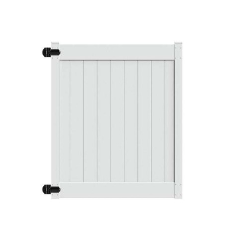 "6' H x58"" W Norfolk Walk Gate White"