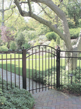4' H x 6' W Clearfield  Aluminum Fence Panel Black