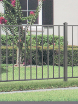 4' H x 6' W Tioga Aluminum Fence Pool Panel Pewter