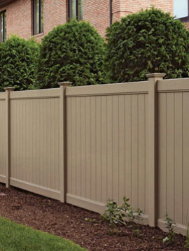 6' H x 8' W Norfolk Privacy Fence Panel Beige