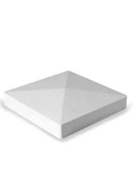 "5""x5"" Pyramid Post Top White"