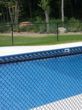 "Residential Color Chain Link Fabric 48"" High (Pool Code)"