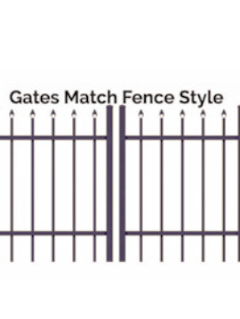 4' H x 10' W Tioga Double Drive Straight Gate  Black