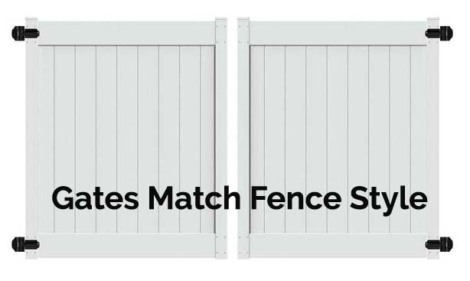 6'H x 10'W Chestertown Double Drive Gate White