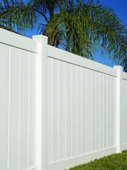 6' H x 8' W Norfolk Privacy Fence Panel White