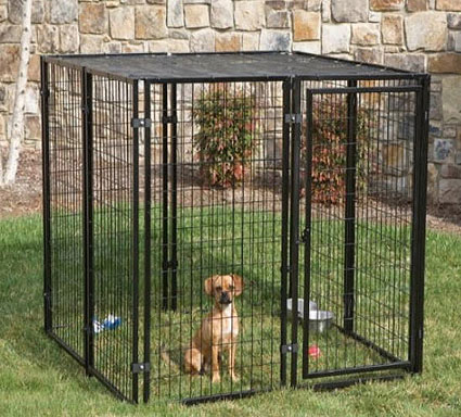 5' W X 5' L X 4' H  Cottageview Dog Kennel