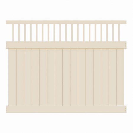 6' H x 6' W Chestertown (Florida Style) Closed Spindle Panel Tan