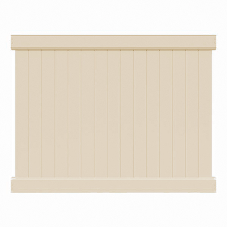 4' H x 8' W Norfolk Privacy Fence Panel Beige