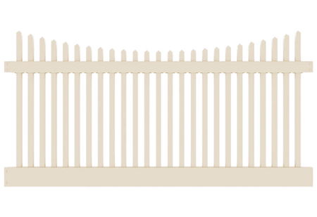 4' H x 8' W Wharton Creek Picket Classic Scallop Beige