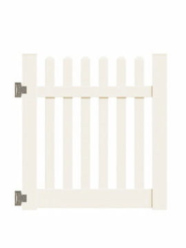 "4'x46"" New Bedford Picket Straight Walk Gate Tan"