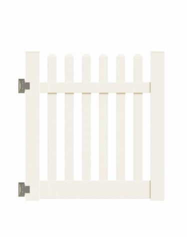 "4'x58"" New Bedford Picket Straight Walk Gate Beige"